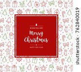 christmas icon elements card... | Shutterstock .eps vector #762840019
