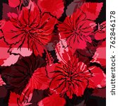 abstract floral seamless... | Shutterstock . vector #762846178