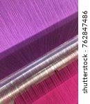 weaving loom thread | Shutterstock . vector #762847486