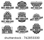 template of hot rod car logo ... | Shutterstock .eps vector #762853330