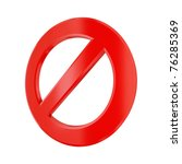 3d rendered stop sign isolated... | Shutterstock . vector #76285369