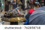 insenses the swayambhunath... | Shutterstock . vector #762858718