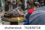 insenses the swayambhunath... | Shutterstock . vector #762858718