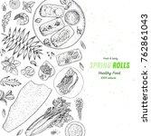asian food menu design template.... | Shutterstock .eps vector #762861043