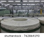 a spinning machine with rolls... | Shutterstock . vector #762864193