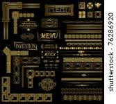 decorative gold menu and...   Shutterstock . vector #76286920