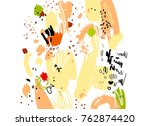 brush  marker  pencil stroke... | Shutterstock .eps vector #762874420