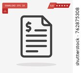 outline document icon isolated...