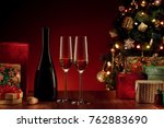 close up view of champagne... | Shutterstock . vector #762883690