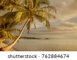 view of nice tropical shore... | Shutterstock . vector #762884674