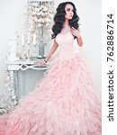 fashionable portrait of... | Shutterstock . vector #762886714