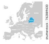 belarus marked by blue in grey... | Shutterstock .eps vector #762889630