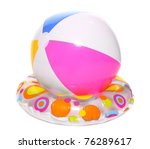 Floating Water Toys Isolated On ...
