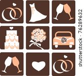 wedding icons | Shutterstock .eps vector #76289632