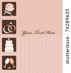 wedding invitation card with... | Shutterstock .eps vector #76289635