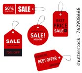 set of sale tags with text.... | Shutterstock .eps vector #762908668