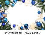 fir tree branches with... | Shutterstock . vector #762913450