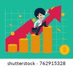 salary man 1 financial  if you... | Shutterstock .eps vector #762915328