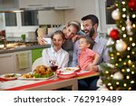 young happy family taking... | Shutterstock . vector #762919489