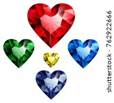 heart red ruby and blue... | Shutterstock .eps vector #762922666