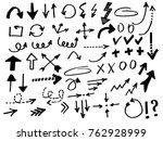 doodle vector arrows. isolated. ... | Shutterstock .eps vector #762928999