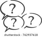 questions button vector icon. | Shutterstock .eps vector #762937618