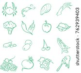 icon doodle set seafood... | Shutterstock .eps vector #762939403