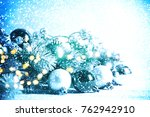 christmas background. happy new ... | Shutterstock . vector #762942910