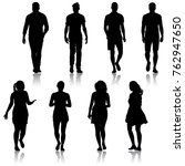 black silhouette group of...