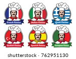chef portrayed in different... | Shutterstock .eps vector #762951130