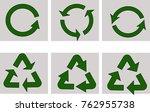 recycling vector symbols | Shutterstock .eps vector #762955738