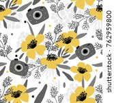 seamles floral pattern with... | Shutterstock .eps vector #762959800