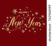 happy new year inscription... | Shutterstock .eps vector #762960499