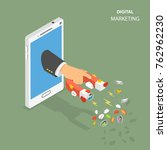 digital marketing flat...   Shutterstock .eps vector #762962230