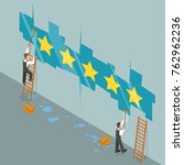 five star rating flat isometric ... | Shutterstock .eps vector #762962236