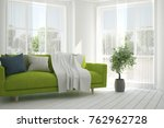 idea of white room with sofa... | Shutterstock . vector #762962728