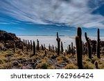 isla incahuasi in salar de... | Shutterstock . vector #762966424