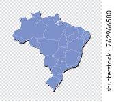 high detailed blue map  brazil...   Shutterstock .eps vector #762966580