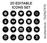 Set Of 20 Day Filled Icons Suc...