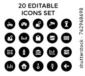 set of 20 control filled icons... | Shutterstock .eps vector #762968698