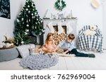 children playing in new year... | Shutterstock . vector #762969004
