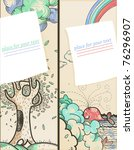 vector set of two hand drawn... | Shutterstock .eps vector #76296907