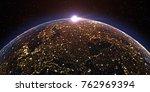 futuristic technology  theme... | Shutterstock . vector #762969394