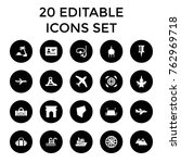 set of 20 travel filled icons... | Shutterstock .eps vector #762969718