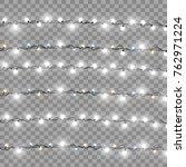 christmas lights isolated... | Shutterstock .eps vector #762971224