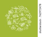 superfood vector concept....   Shutterstock .eps vector #762972478