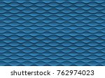 seamless abstract blue wave... | Shutterstock . vector #762974023