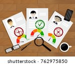evaluation of candidate for... | Shutterstock .eps vector #762975850