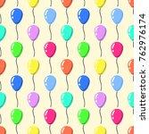 party balloons pattern seamless ... | Shutterstock . vector #762976174