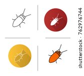 cockroach icon. flat design ... | Shutterstock .eps vector #762976744